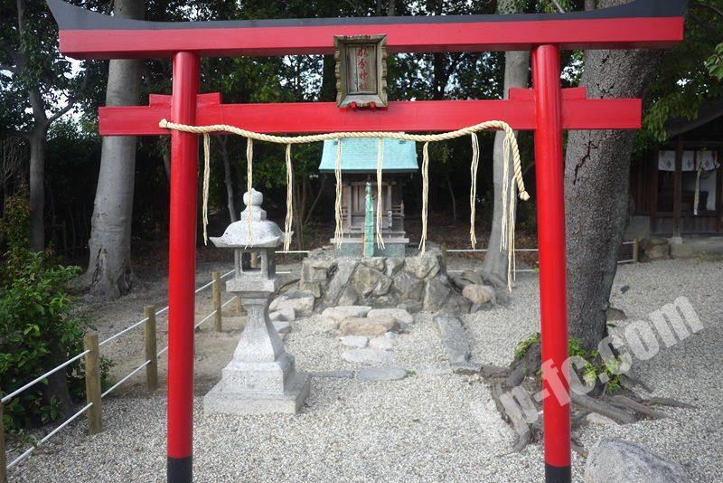 若宮住吉神社の摂社「水分神社(旧厳島神社)」